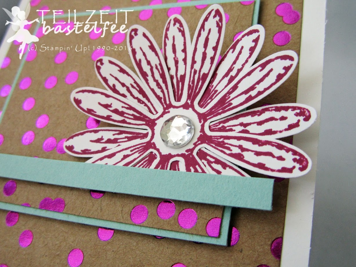 Stampin' Up! - Daisy Delight, Gänseblümchengruß, Foil Frenzy DSP