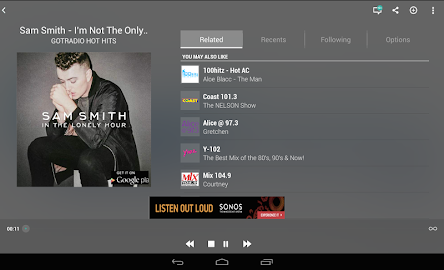 TuneIn Radio Screenshot 1