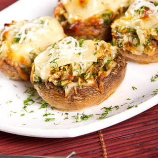 Crab & Cheese Stuffed Mushrooms
