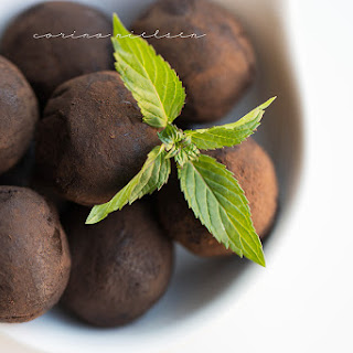 Thin Mint Vegan Protein Truffles.