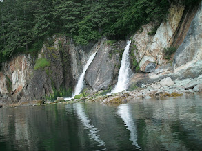 Photo: A waterfall just before Point Anmer.