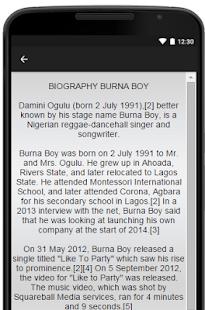 Burna Boy Music Lyrics - náhled