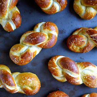 Homemade Soft Pretzel Twists.