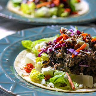 Gluten Free Greek Tacos with Slow Cooked Lamb.