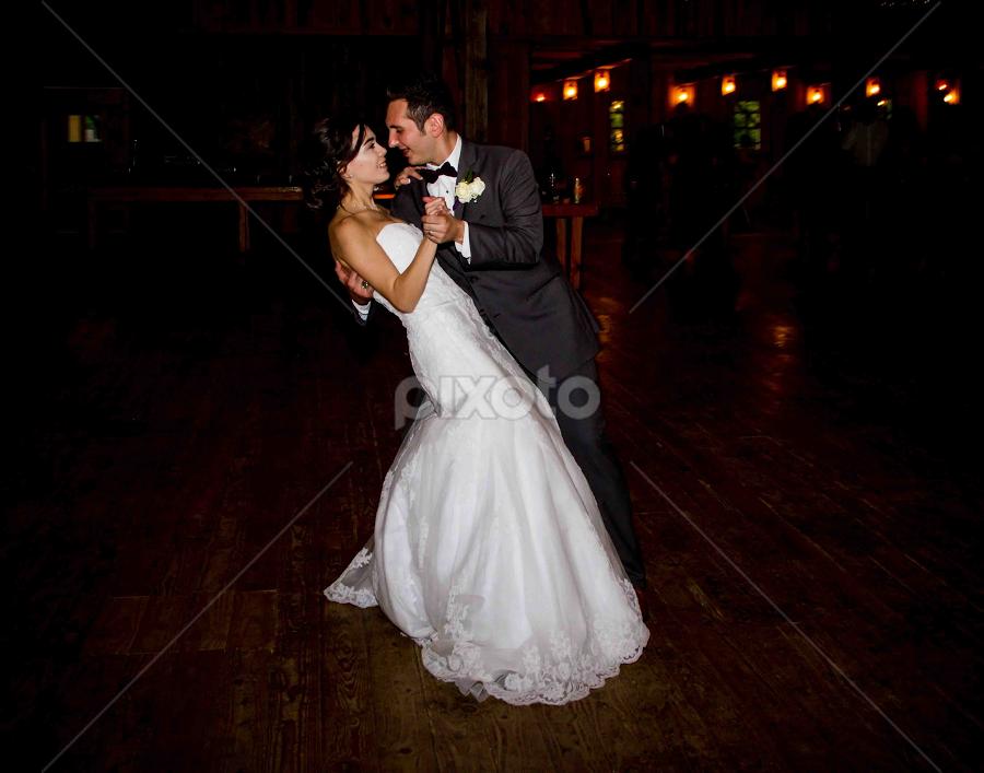 Urban Wedding by Matthew Chambers - Wedding Bride & Groom ( bride, love, dancing, dress, wedding dress, groom, beauty, city, white dress, night, texas, white, austin, stare )