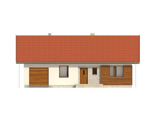 Gaja 2 drewniana - Elewacja przednia