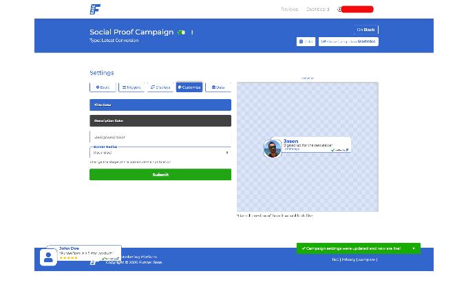 customization of a widget