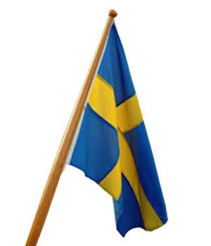 Sverige Båtflagga (30-150 cm)