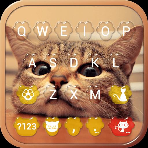 Cute Kitty Emoji Keyboard Theme Wallpaper