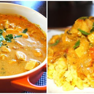 Creamy Curry Chicken With Yellow Rice.