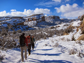 Photo: Hiking through the Colorado Monument in Grand Junction to our first climb.