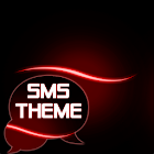 Simple thème rouge GO SMS icon