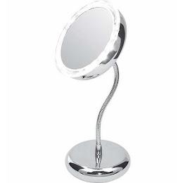 Oglinda reglabila pentru machiaj cu lupa marire 5x si iluminare cu LED