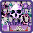 Rose Skull Tattoo Keyboard Theme icon
