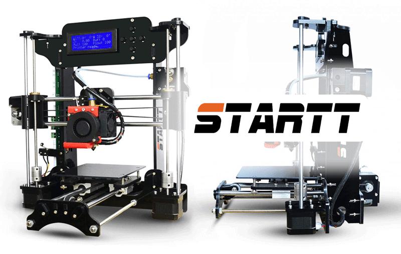 Думаете что не бывает 3d принтеров за 100$? Вот вам один из таких! Встречайте - принтер STARTT