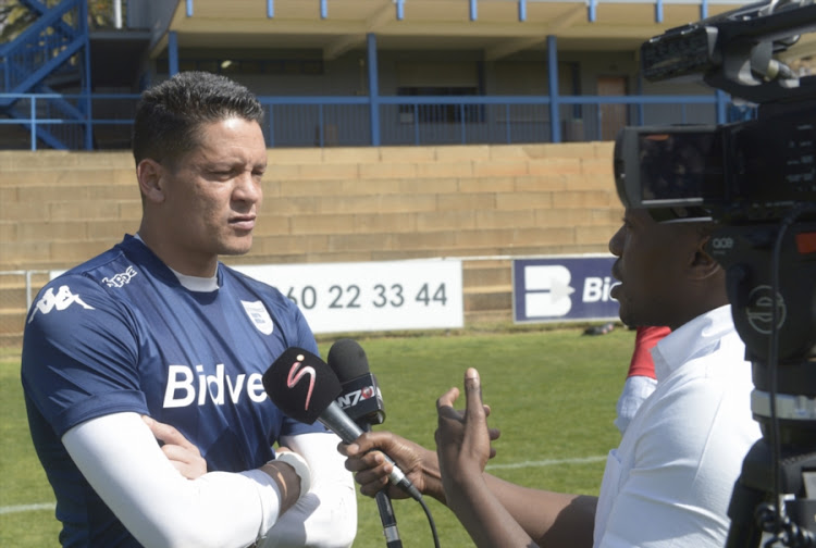 Goalkeeper Moeneeb Josephs of Wits during the Bidvest Wits media open day at Sturrock Park on September 05, 2017 in Johannesburg, South Africa.