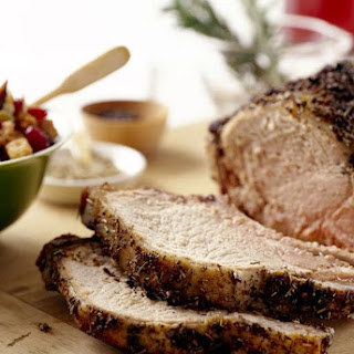 Herbed Roast Pork Loin and Potatoes Recipe