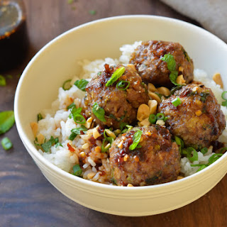 Vietnamese-Style Meatballs with Chili Sauce.