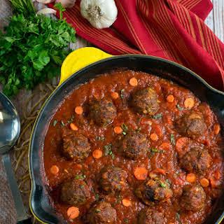 Paleo Meatballs with Marinara Sauce.