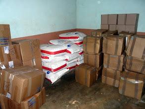 Photo: du lait entier en poudre en sacs de 25 kgr, fabriqué à la laiterie coopérative d'Isigny/Mer