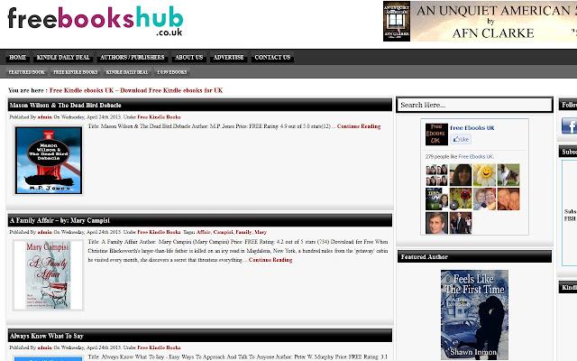 Free Kindle ebooks UK