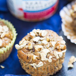 Maple Banana Nut Oatmeal Muffins