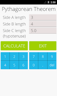 Pythagorean Theorem Calculator- screenshot thumbnail
