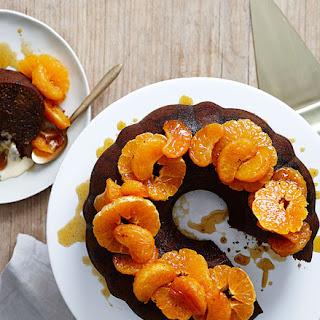 Dark Gingerbread Cake With Mandarin Compote