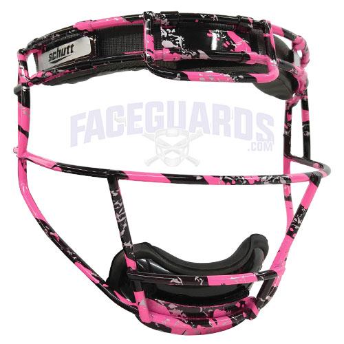 Schutt Custom Black Marble Pink Fielders Mask