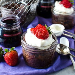 Fudgy Flourless Chocolate Cake In A Jar