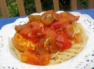 Fireman Bob's Chicken Cacciatore For Two! Recipe
