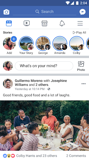 Facebook screenshot for Android