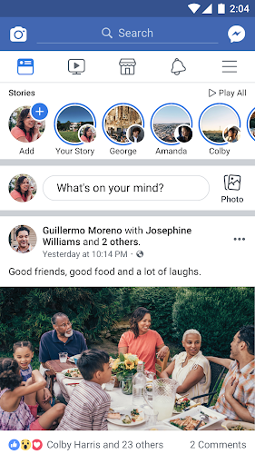 Facebook Android App Screenshot