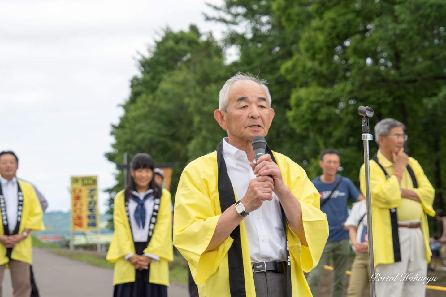 北竜町ひまわり観光協会・小松忠彦会長
