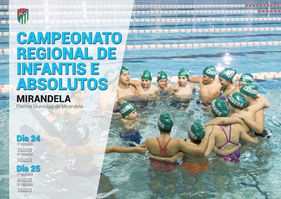 Campeonato Regional de Infantis e Absolutos - 24 e 25 de fevereiro - Mirandela