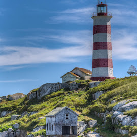Sambro Island Lighthouse by Stephen Fralick - Buildings & Architecture Other Exteriors ( canada, nova scotia, outdoors, lighthouse, sambro, island )