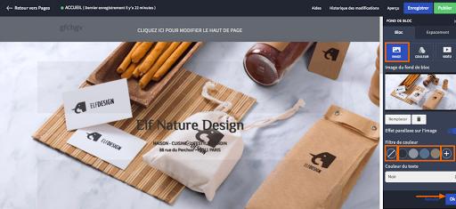 créer le design de mon site internet