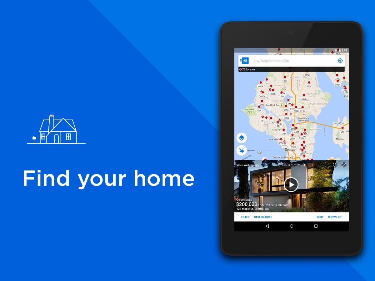 Real Estate & Rentals - Zillow- screenshot