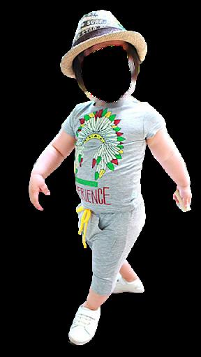 Kid Boy Fashion Photo Montage