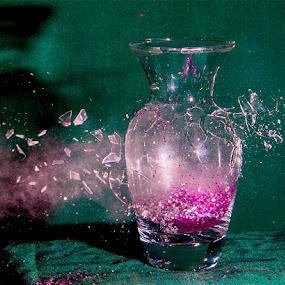 broken vase by Stephen  Barker - Artistic Objects Glass