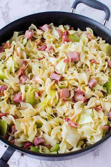 Cabbage & Noodles with Ham