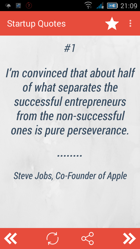 Startup Quotes- screenshot