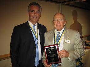 "Photo: President Blaine received the ""John Carpenter Award"" for his selfless work through the 2008-2009 year"