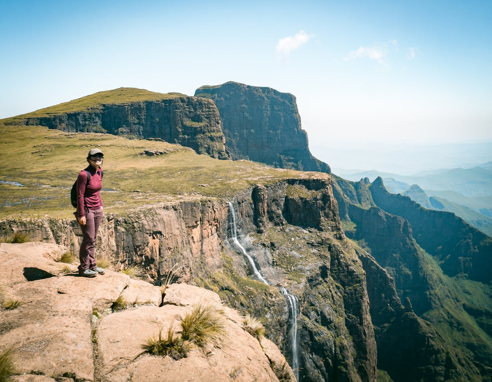 One of the highlights of the Amphitheatre hike is to get to the top of Tugela Falls, the highest waterfall in Africa (second highest in the world).