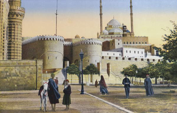 Image of Cairo, The Citadel. Illustration for souvenir brochure on Egypt published by The Cairo Postcard Trust, c 1905. Photographs look to be late 19th century, and colouring early 20th century, © Look and Learn / Bridgeman Images