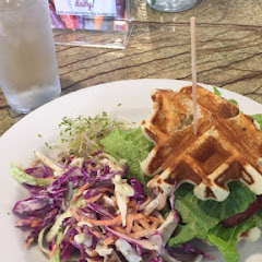 The food was amazing! Everything from the waffle to the coleslaw was very tasty. Will go back for sure!