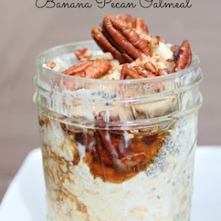 No Cook - Banana Pecan Overnight Oatmeal