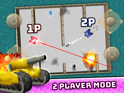 TankHit - 2 Player Tank Wars screenshots 2