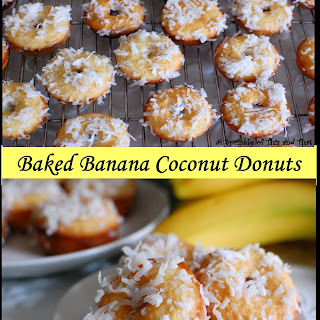 Mini Baked Banana Coconut Donuts