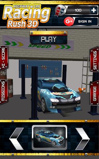 Highway Car Racing Rush 3D